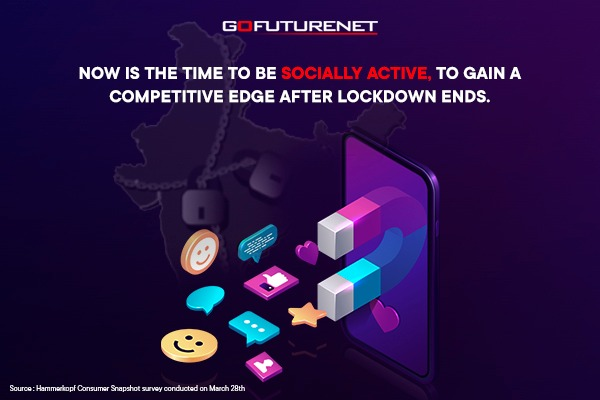 Now is the time to be socially active, to gain a competitive edge after lockdown ends.
